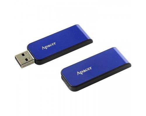 Флешка USB Apacer AH334, 64GB, Синий ,flash AP64GAH334U-1, USB 2.0, blue