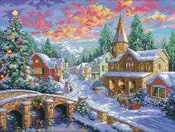 Набор для вышивания Белоснежка Рождественская ночь
