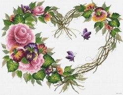 Набор для вышивания Белоснежка Сонет любви