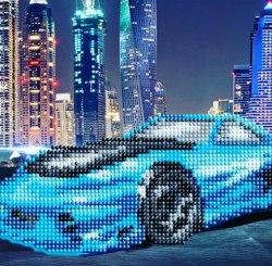 Алмазная вышивка Наследие Синий автомобиль