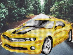 Алмазная вышивка Наследие Жёлтый автомобиль