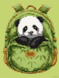 Алмазная вышивка Наследие Панда в рюкзачке