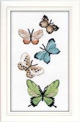 Набор для вышивания на водорастворимой канве Овен Бабочки