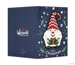 Открытка с элементами алмазной мозаики Wizardi Счастливого Рождества