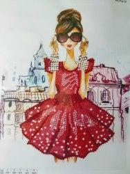 Алмазная вышивка Наследие Модная девушка в очках