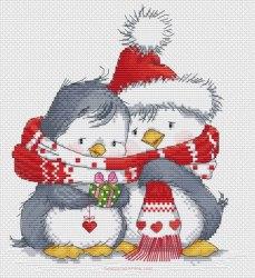 Набор для вышивания Белоснежка Пингвинчики