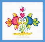 Набор для вышивания Овен Влюбленные рыбки