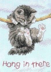 Набор для вышивания Dimensions Держись котёнок