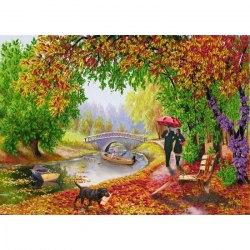 Набор для вышивания лентами Наследие Осенняя прогулка