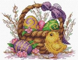 Набор для вышивания М.П.Студия/ Жар-птица Праздничное лукошко
