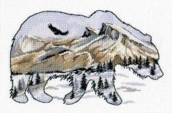 Набор для вышивания Овен Мир животных. Медведь