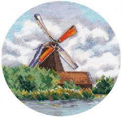 Набор для вышивания Овен Миниатюра. Мельница