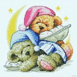 Набор для вышивания Белоснежка Два медвежонка