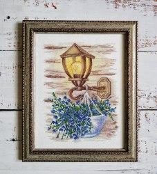 Набор для вышивания Овен Фонарь с цветами