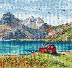 Набор для вышивания Овен Лофотенские острова