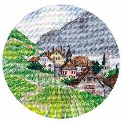 Набор для вышивания Овен Миниатюра. Альпы