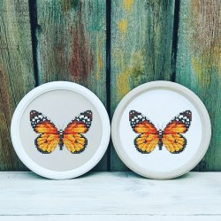 Набор для вышивания Добры лiс Бабочка (бежевая основа)