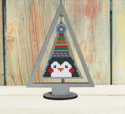 Набор для вышивания Добры лiс Ёлка пингвин (маренго)