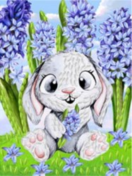 Набор для вышивания лентами Наследие Удивленный кролик