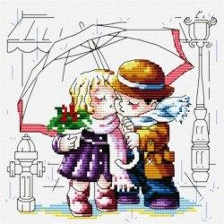 Набор для вышивания Белоснежка Романтика под зонтиком