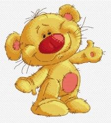 Набор для вышивания Белоснежка Привет Медвед