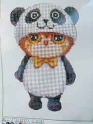 Алмазная вышивка Наследие Сова в костюме панды