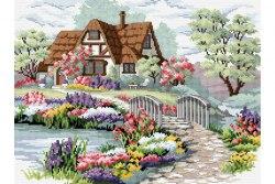 Набор для вышивания Белоснежка Мостик в цветах