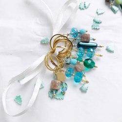 "Набор маркеров ""Изумруд-голубое стекло-2"" Knittingmarkery"