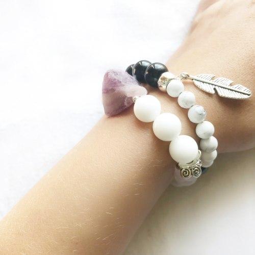 Набор браслетов •Воздушный аметист• Taukins