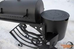 Мангал-коптильня МК-13 с печью для казана