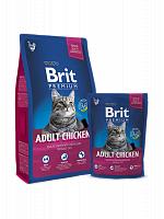 Сухой корм Брит Premium Cat Adult Chicken 1,5кг
