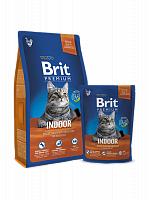 Сухой корм Брит Premium Cat Indoor 8кг