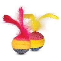 Игрушка В НАЛИЧИИ Triol мячик с хвостом для кошек, d=3,5 см
