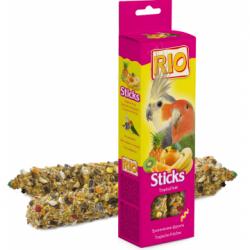 Палочки-лакомства В НАЛИЧИИ RIO для средних попугаев с тропическими фруктами, 2*75г