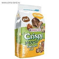 Корм В НАЛИЧИИ Versele Laga Crispy Muesli Hamsters & Co для хомяков и др. грызунов, 400г