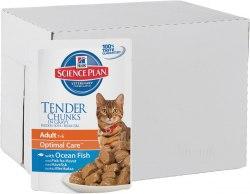 Влажный корм Hill's Science Plan Optimal Care для кошек в ассортименте 12шт/85 г