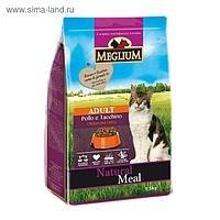 Сухой корм НА РАЗВЕС MEGLIUM для взрослых кошек курица с индейкой 1 кг
