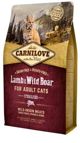 Сухой корм Carnilove Lamb & Wild Boar for Adult Cats – Sterilised 6 кг