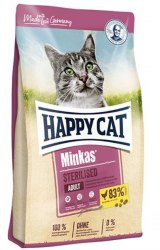 Сухой корм Happy Cat Minkas Sterilised Geflügel (домашняя птица) 10 кг