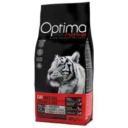 Сухой корм Optimanova CAT MATURE CHICKEN & RICE 8 кг