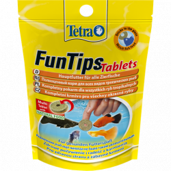 Корм Tetra FunTips Tablets 20Tb- Стабилизированный корм для рыб в таблетках, с возможностью приклеивания к стеклу аквариума
