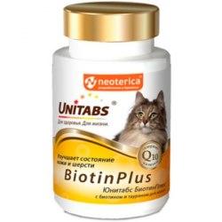 Витамины Unitabs BiotinPlus с Q10 для кошек
