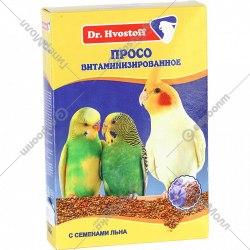 Просо В НАЛИЧИИ Dr.Hvostoff витаминизированное с семенами льна, 500г