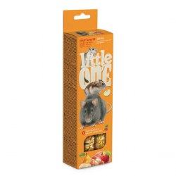 Палочки-лакомства В НАЛИЧИИ Little one для хомяков, крыс, мышей и песчанок 1шт/60г, с фруктами и орехами