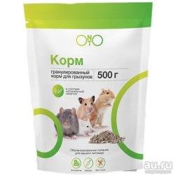 Корм ONTO д/хомяков, песчанок, крыс и мышей 500г