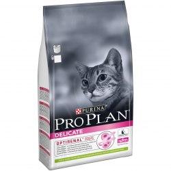 Сухой корм Pro Plan DELICATE для взрослых кошек с чувствительным пищеварением, с ягненком 1,5 кг