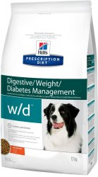Сухой корм Hill's Prescription Diet w/d Digestive/Weight Management для собак 1,5 кг