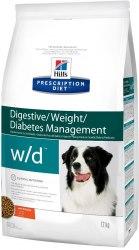 Сухой корм Hill's Prescription Diet w/d Digestive/Weight/Diabetes Management для собак с курицей 12 кг