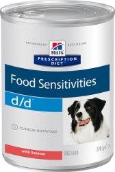 Влажный корм Hill's Prescription Diet d/d Food Sensitivities с лососем 370 г