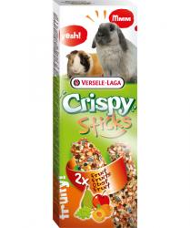 Палочки-лакомства Crispy Sticks для кроликов и морских свинок с фруктами, 110г